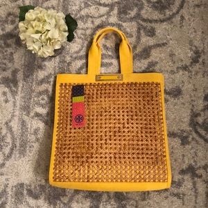 Tory Burch Congo Yellow Canvas Tote